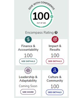 Screenshot of Encompass rating